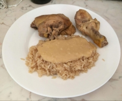 Poulet et Riz au Curry