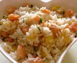 Crevettes et riz à l'exotique