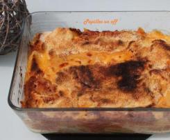 Pastitsio ou gratin de pâtes en sauce