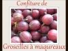 CONFITURE DE GROSEILLES A MAQUEREAUX