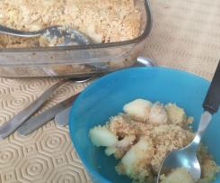 crumble pomme banane sans gluten