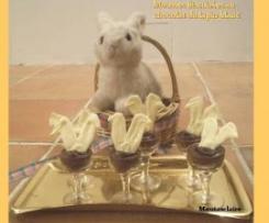 Mousses biscuitées au chocolat du lapin blanc