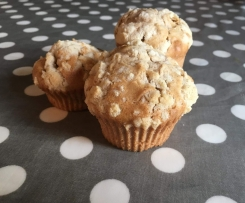 Muffins pomme crumble