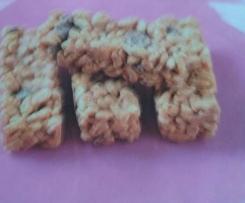 Barres de céréales au kinder chocolat