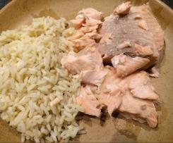 pavés de saumon riz