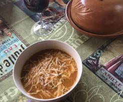 Soupe de tomates au pistou