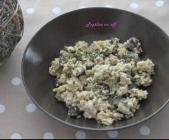 Salade de boulgour aux aubergines, sauce au yaourt