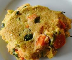 Veggie galettes de couscous de pois chiche et lentilles corail aux légumes