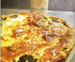 Quiche aux épinards et au Boursin