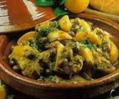 Tajine de poulet citron olive