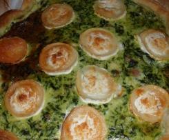 Quiche Epinards, Lardons Chevre