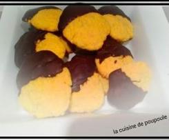 Biscuits safran et chocolat