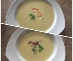 Soupe à la crème de pommes de terre truffée