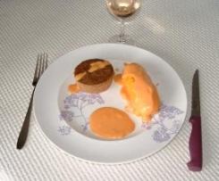 Gâteaux de foies allégés sauce à la tomate.