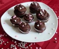 Gâteau chocolat-courgettes déguisé en cupcakes