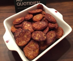 Galette de courgette, pommes de terre et gruyère
