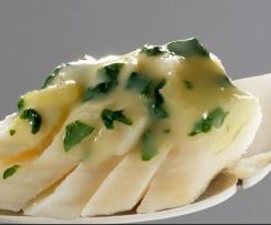 filet de merlan sauce blanche  persillée