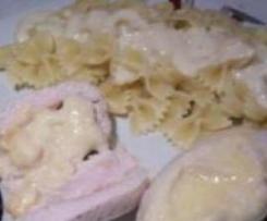 Papillotte de dinde au Maroilles et sa sauce