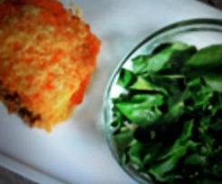 Hachis parmentier à la purée de carottes