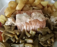 Rôti de porc au cidre et son accompagnement