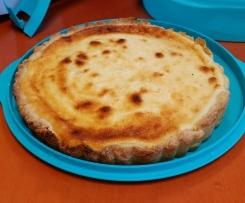 Tarte au fromage blanc et son coulis d'abricot/passion