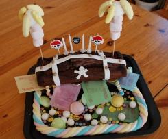 Gâteau coffre de pirates