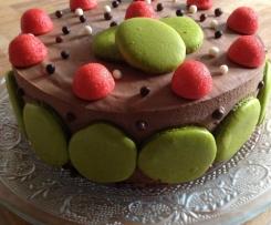 Entremet chocolat fraise