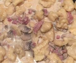 Sauce champignon lardon