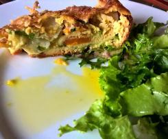 Variante Gâteau invisible carottes, navets, courgettes, bettes façon couscous
