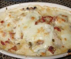 Gratins de dinde aux tomates séchées et mozzarella