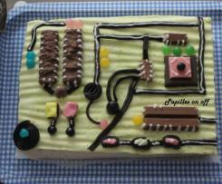 Gâteau « carte mère » - Entremets pistache, chocolat blanc et framboises