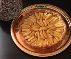 Tarte aux pommes confites