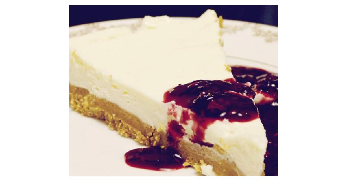 cheesecake citron sans cuisson coulis de fruits rouges. Black Bedroom Furniture Sets. Home Design Ideas