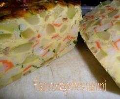 Flan de courgettes au surimi
