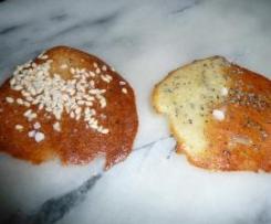 Tuiles sésame / pavot / fleur de sel pour l'apéritif