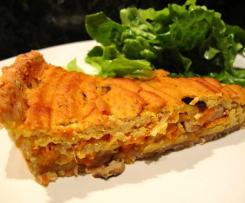 Méli-mélo de légumes en tarte sauce crémeuse au curry