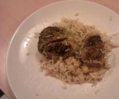 Choux farcies au riz