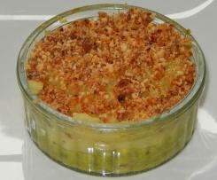 crumble poireaux pomme de terre et amandes