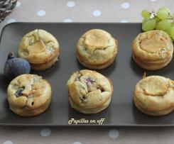 Muffins sucrés salés d'automne figues, raisins et roquefort