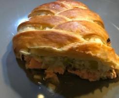 Feuilleté Saumon- Poireaux - Champignons