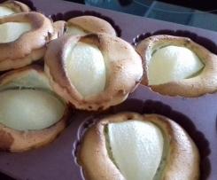 Tartelettes poires-amade sans pâte