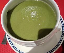 Soupe épinard, artichaut, pomme de terre