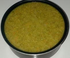 Soupe Brocolis, courgette, carotte