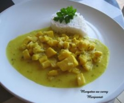 Morgates au curry                                                                                                                                                           (blancs de seiches)