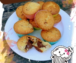 Muffin au Coeur de Nutella fondant - Type Mandise