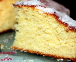 Gâteau au yaourt parsemé d'amandes effilées