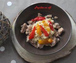Blésotto aux poivrons grillés