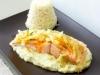 Pavés de saumon sur crème et son fenouil confit à l'orange