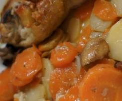 Poulet curry coco - carottes pomme de terre