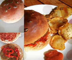 Hamburgers méditerranéens à ma façon